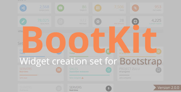 BootKit - Widget creation set for Bootstrap