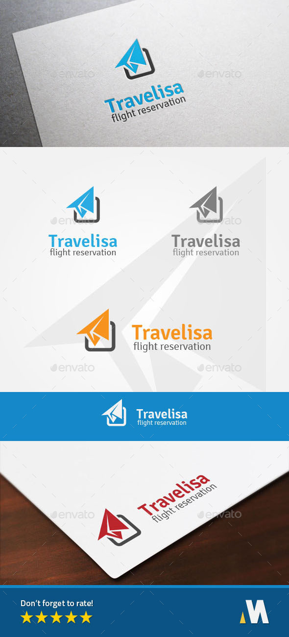 Air Travel - Flight Reservation Logo - Symbols Logo Templates
