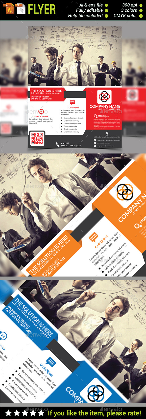 Multiperpose Corporate Business Flyer - Corporate Flyers