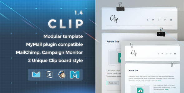 Clip - Responsive Email Template - Newsletters Email Templates