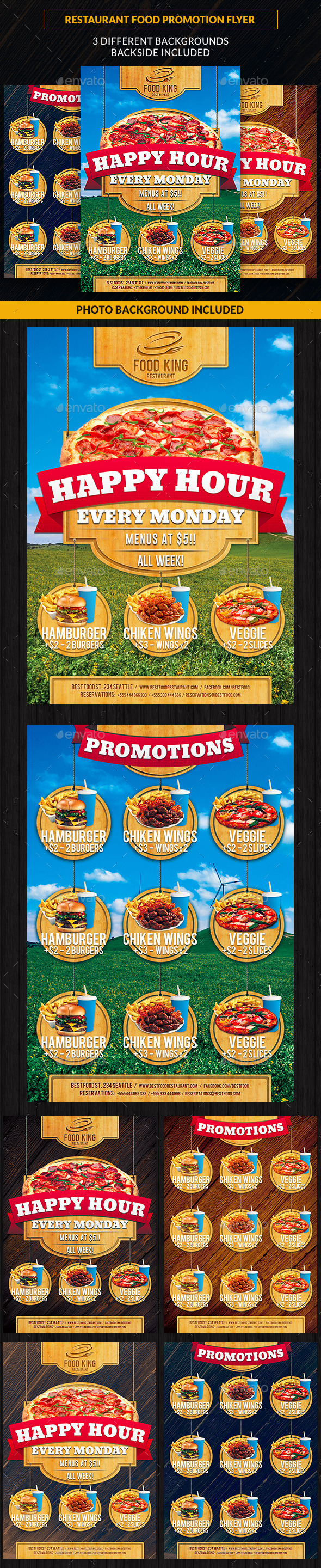 Restaurant Food Promotion Flyer - Restaurant Flyers