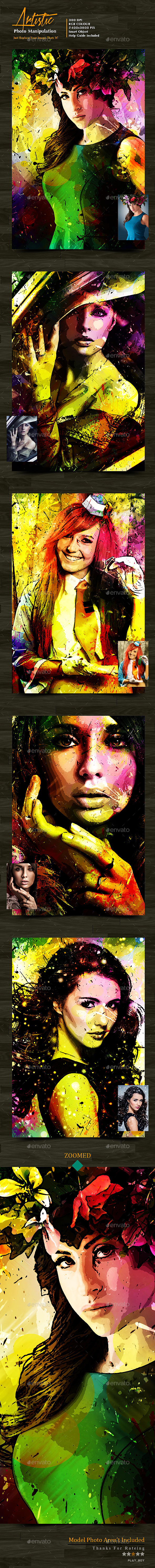 Artistic Photo Manipulation Template - Photo Templates Graphics