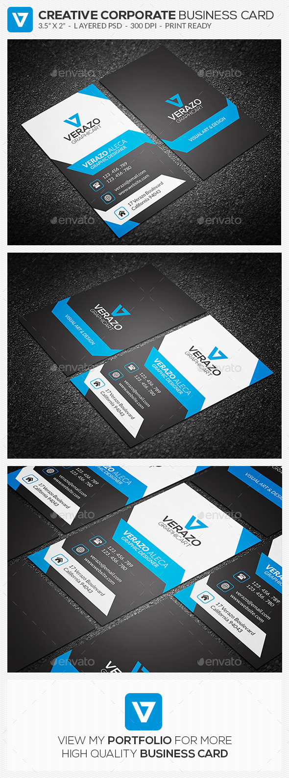Creative & Modern Corporate Business Card 72 - Corporate Business Cards