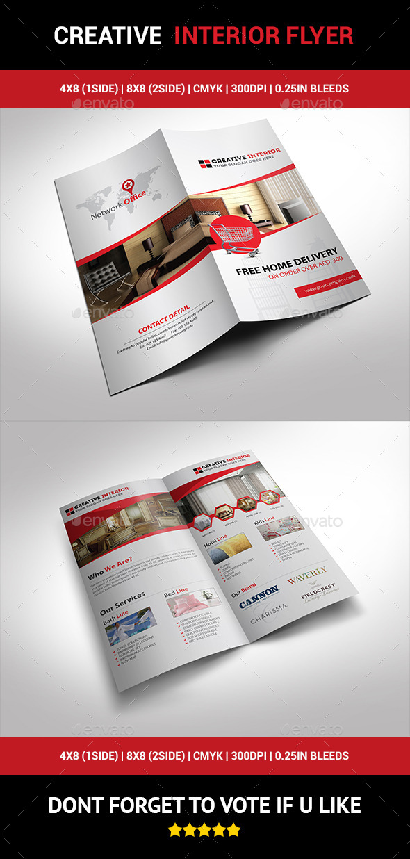 Creative Interior Flyer 01 - Corporate Brochures