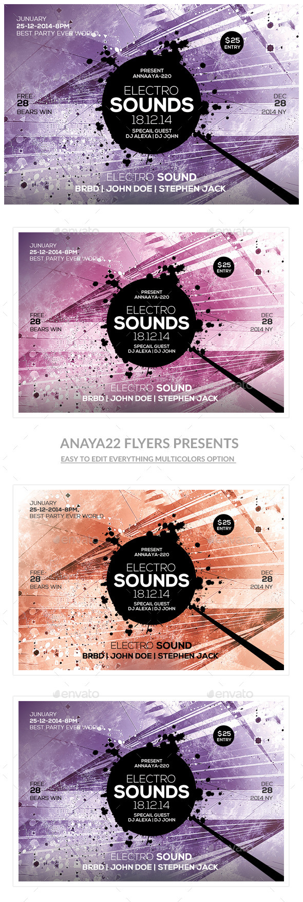 Futuristic Flyer Templates - Clubs & Parties Events