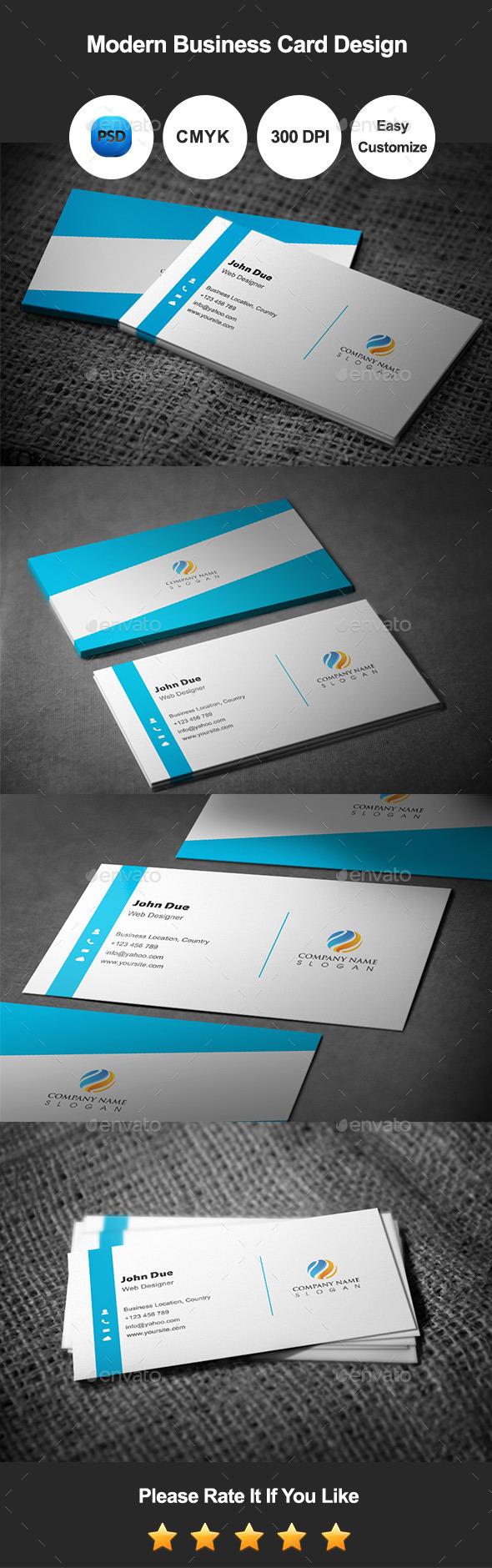 Modern Business Card Template Design - Corporate Business Cards