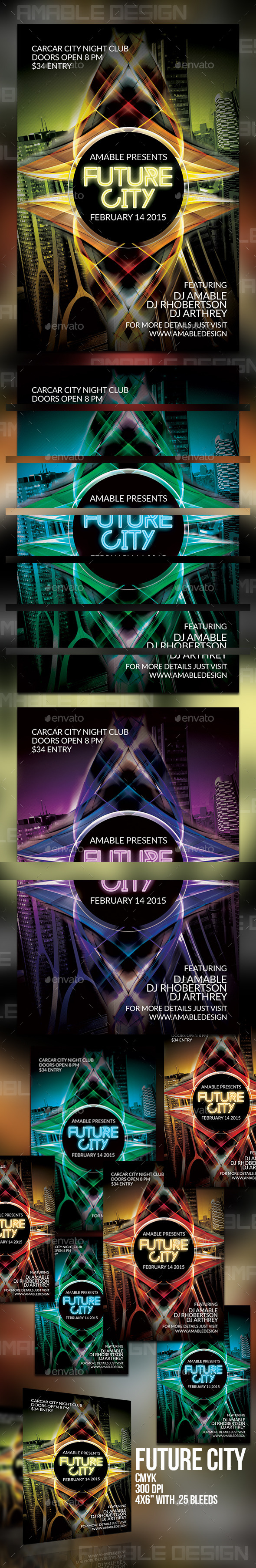 Future City Flyer - Clubs & Parties Events
