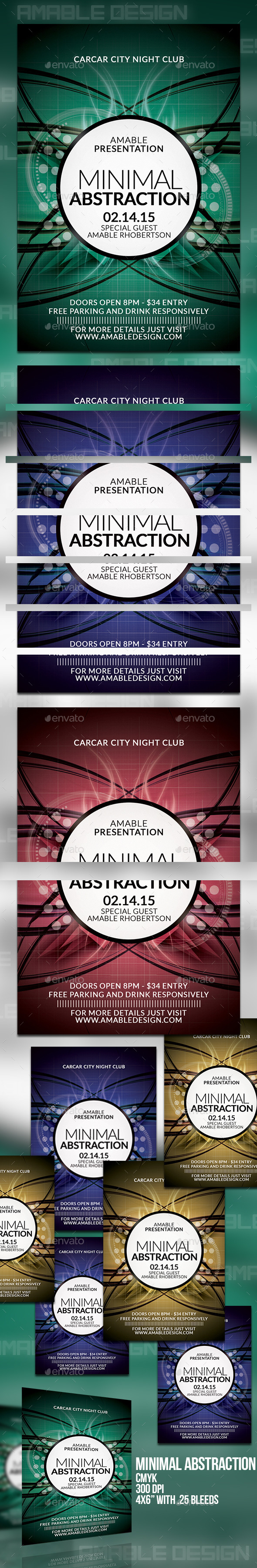 Minimal Abstraction Flyer - Clubs & Parties Events