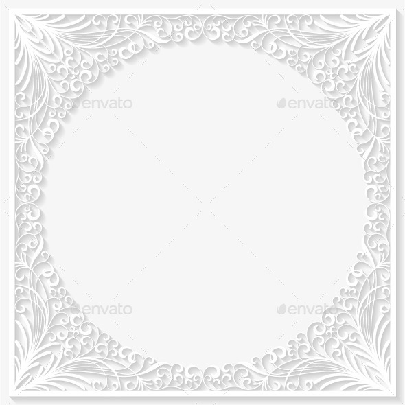 Abstract Paper Floral Frame - Borders Decorative
