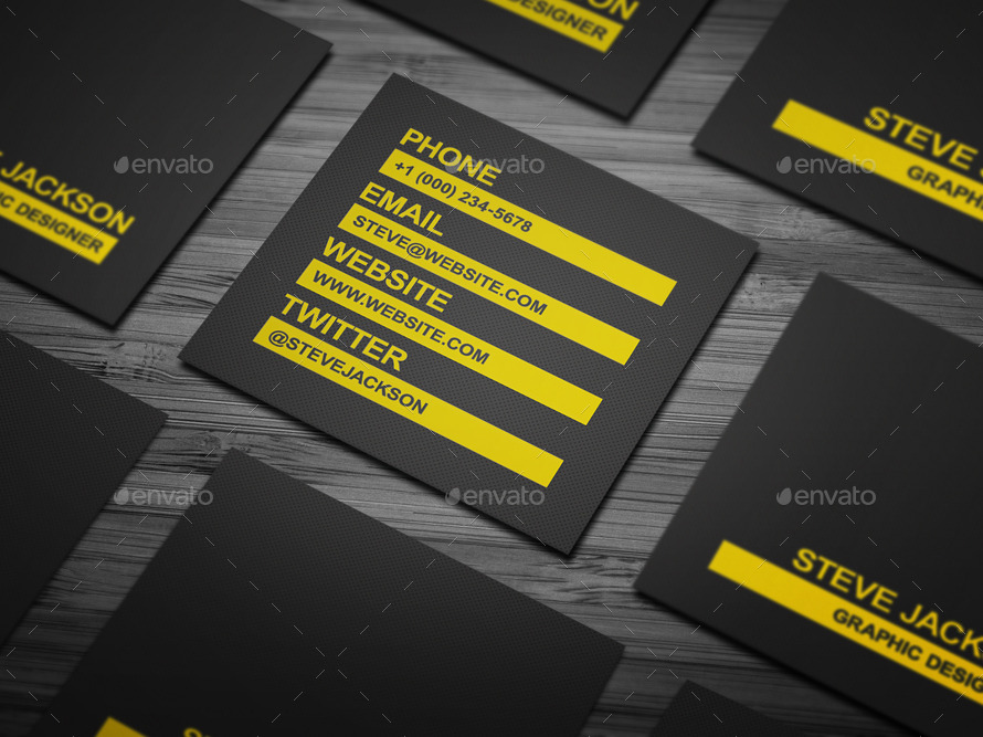 Smart Typography Business Card by FlowPixels | GraphicRiver