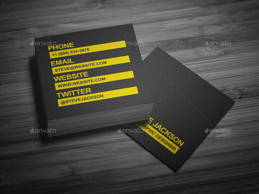 smart typography business card by flowpixels graphicriver