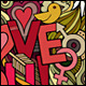 3 I Love You Doodles Backgrounds - GraphicRiver Item for Sale