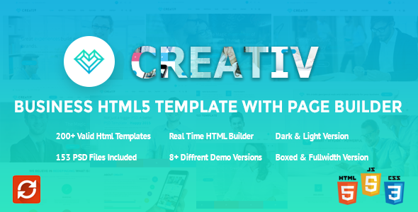 Creativ Business HTML5 Template with Page Builder