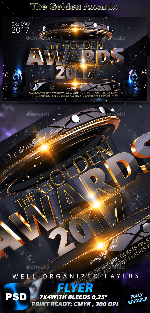 The Golden Awards Flyer - Events Flyers