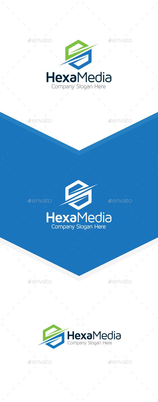 Hexa Media Logo - Symbols Logo Templates