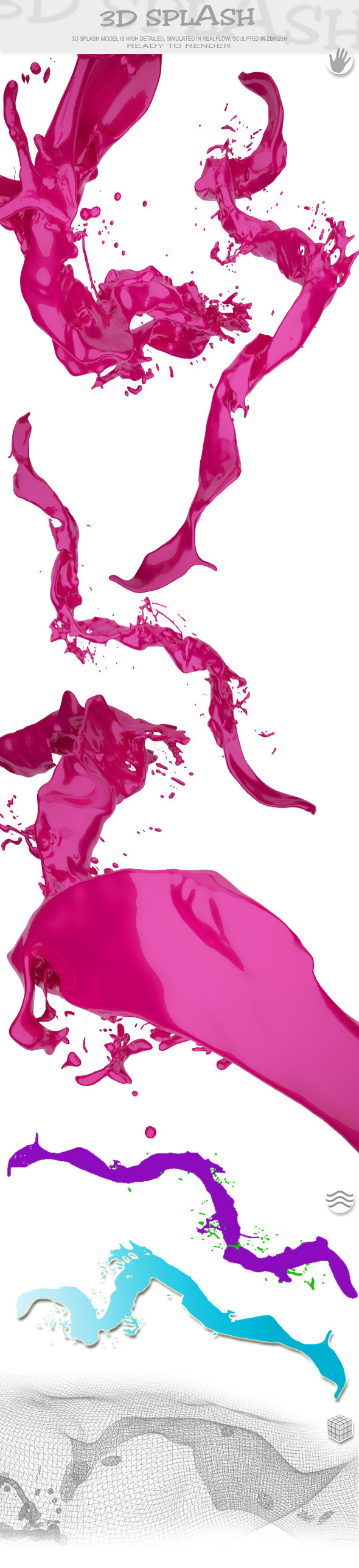 HD Water Paint Liquid Splash 17 - 3DOcean Item for Sale