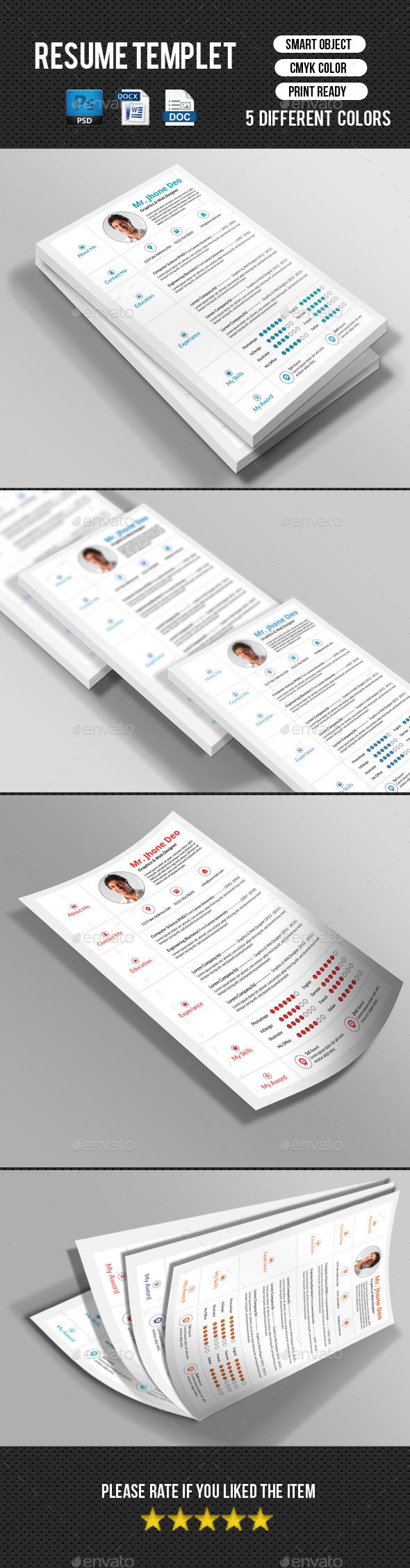 Minimal Resume/CV - Resumes Stationery