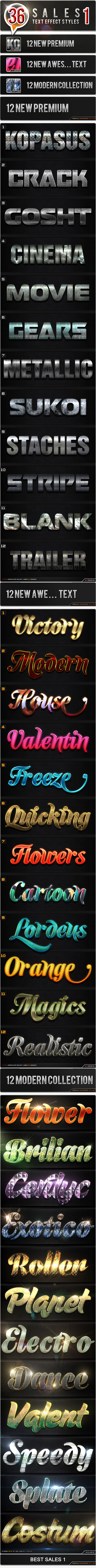 36 Sales_1 Bundle - Text Effects Styles