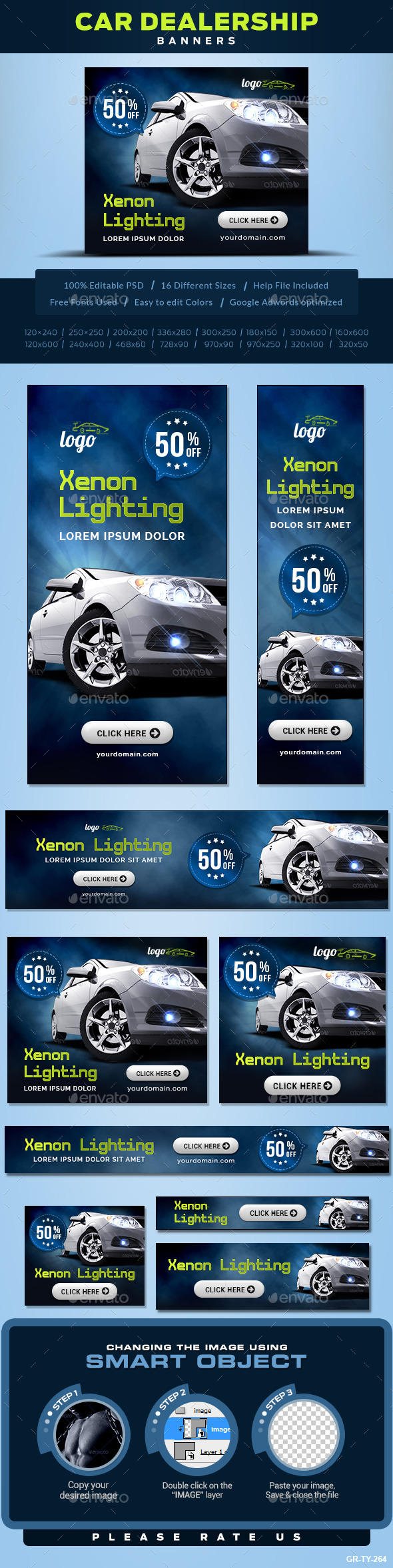 Car Accessories Banners - Banners & Ads Web Elements