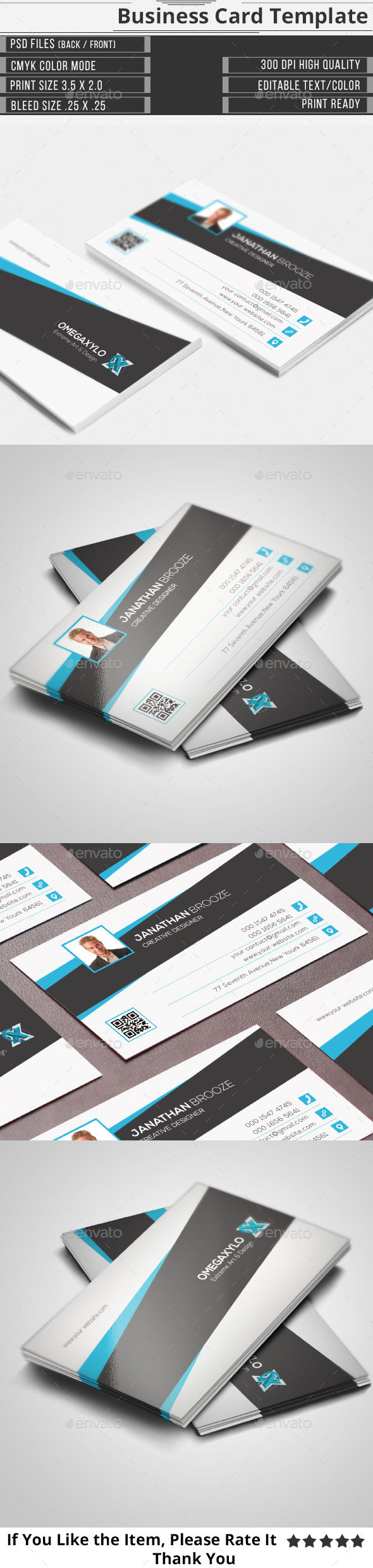 Stylish Corporate Business Card - Corporate Business Cards