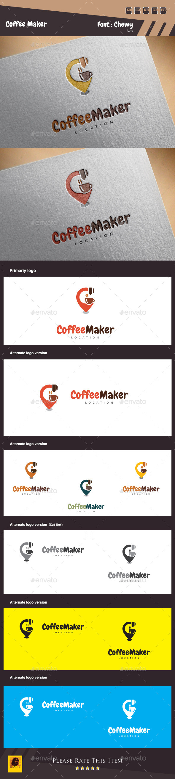 Coffee Maker Logo Template - Food Logo Templates
