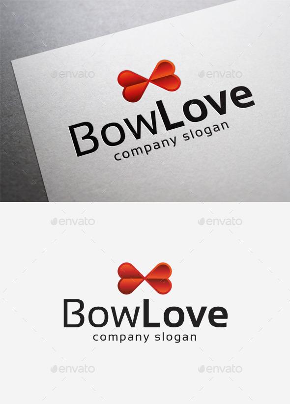Bow Love Logo - Abstract Logo Templates