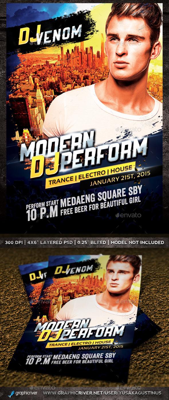 Modern Dj Perform Flyer - Clubs & Parties Events