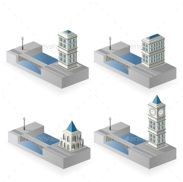 Isometric Houses - Buildings Objects