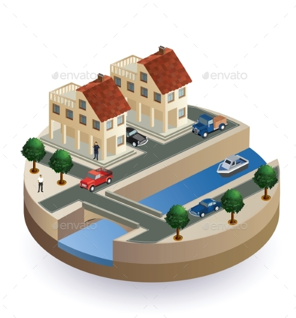Isometric View - Buildings Objects