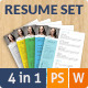 Colorful Flat Resume Set - GraphicRiver Item for Sale
