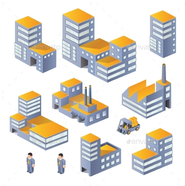 Buildings in the Isometric - Food Objects