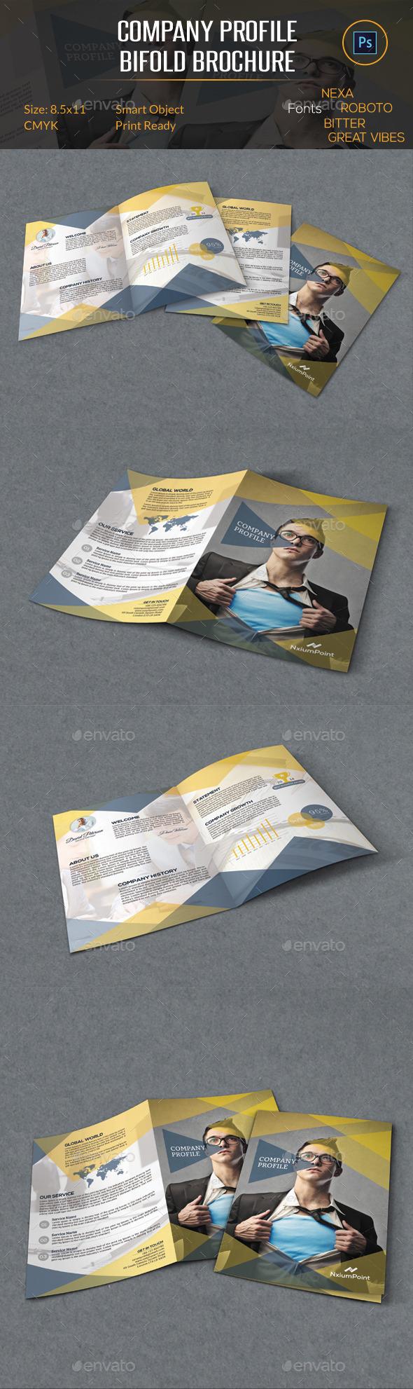 Company Profile Bifold Brochure - Corporate Brochures