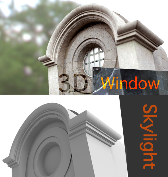 Exterior Roof Retro Window Skylight - 3DOcean Item for Sale