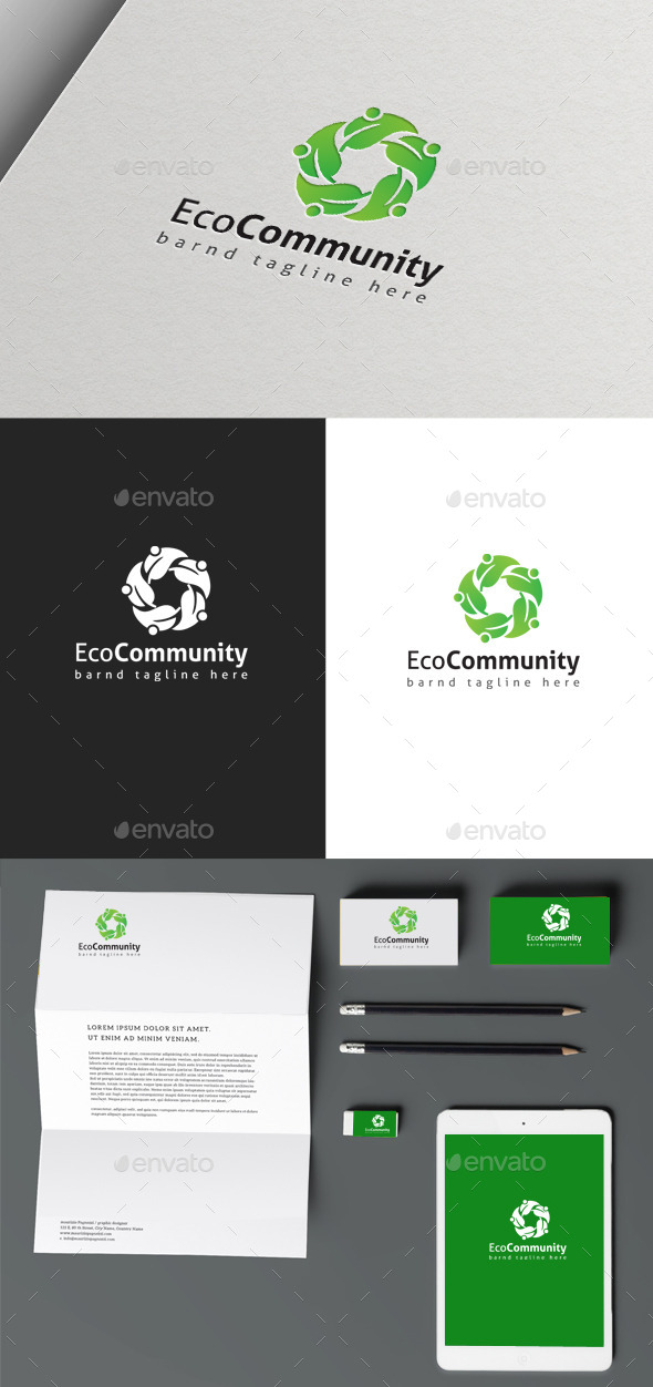 Eco Community - Nature Logo Templates