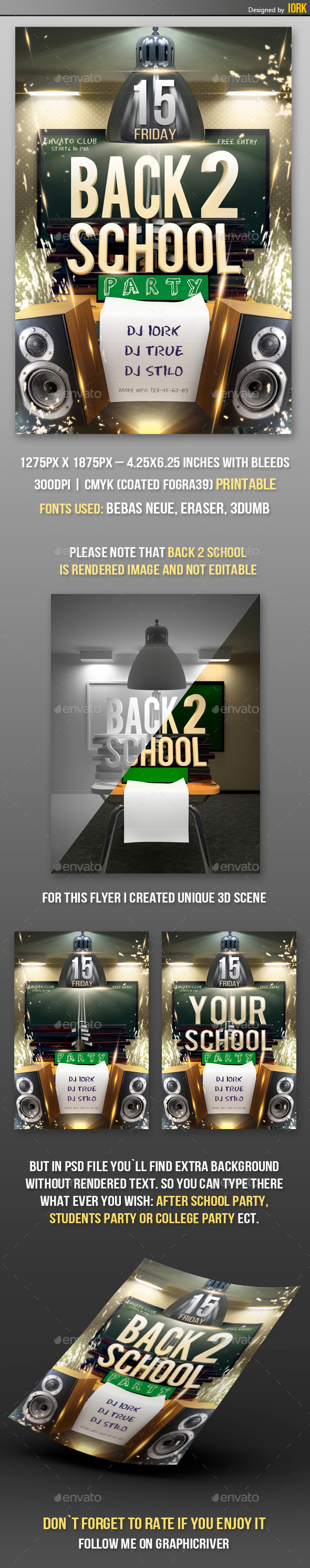 Back To School Party Flyer - Flyers Print Templates