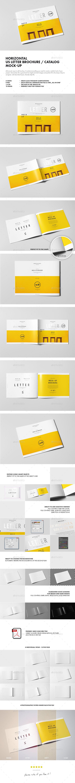 Horizontal US Letter Brochure Mock-up - Brochures Print