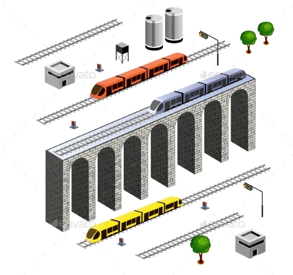 Isometric Railroad - Buildings Objects