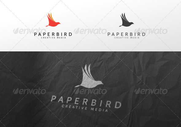 Paper Bird - Animals Logo Templates