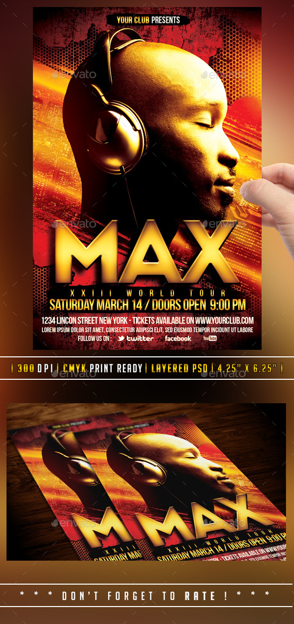 DJ Flyer - Flyers Print Templates