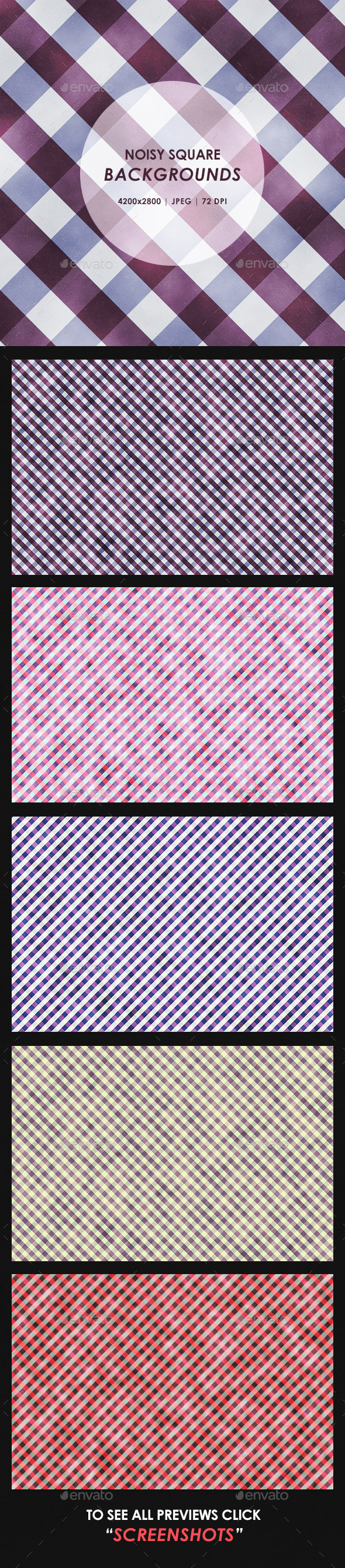 Noisy Square Mosaic Backgrounds - Patterns Backgrounds