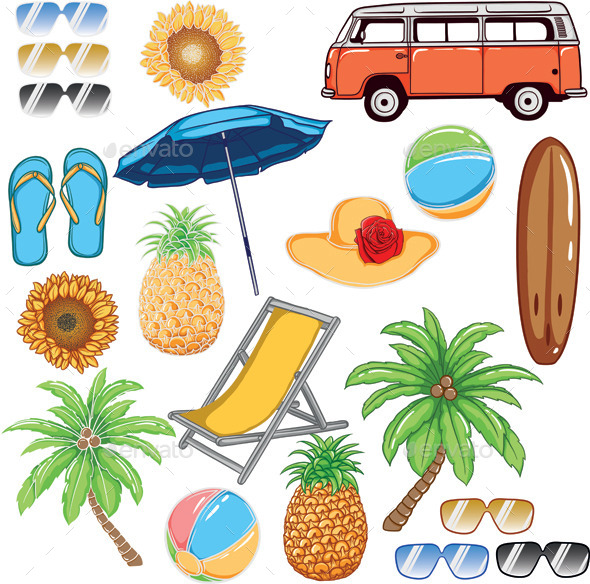 Tropical Summer Vector - Seasons/Holidays Conceptual