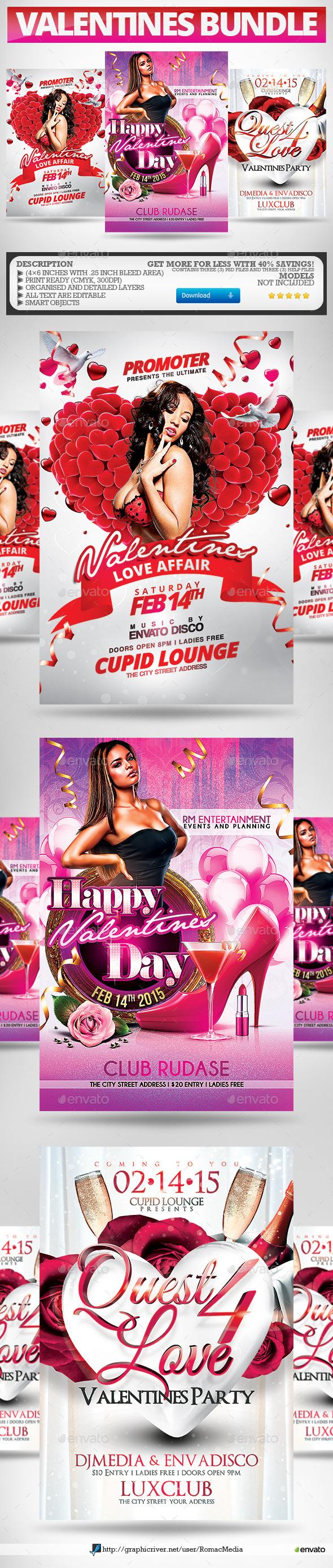 Valentines Party Flyers Super Bundle - Clubs & Parties Events