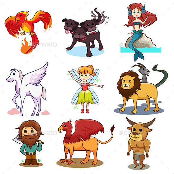 Fairy Tale Icons - Characters Vectors
