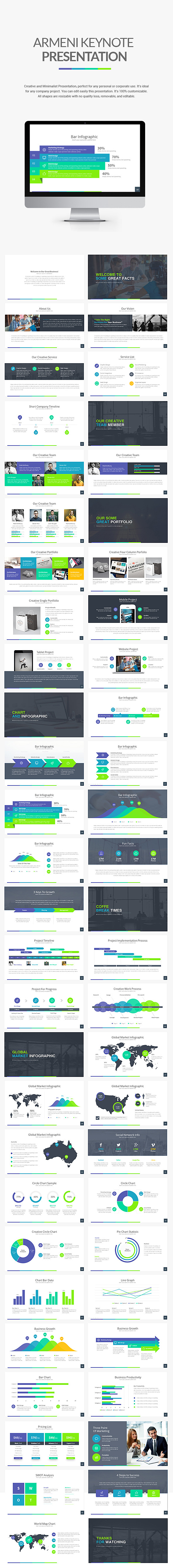 Armeni Keynote Template - Business Keynote Templates