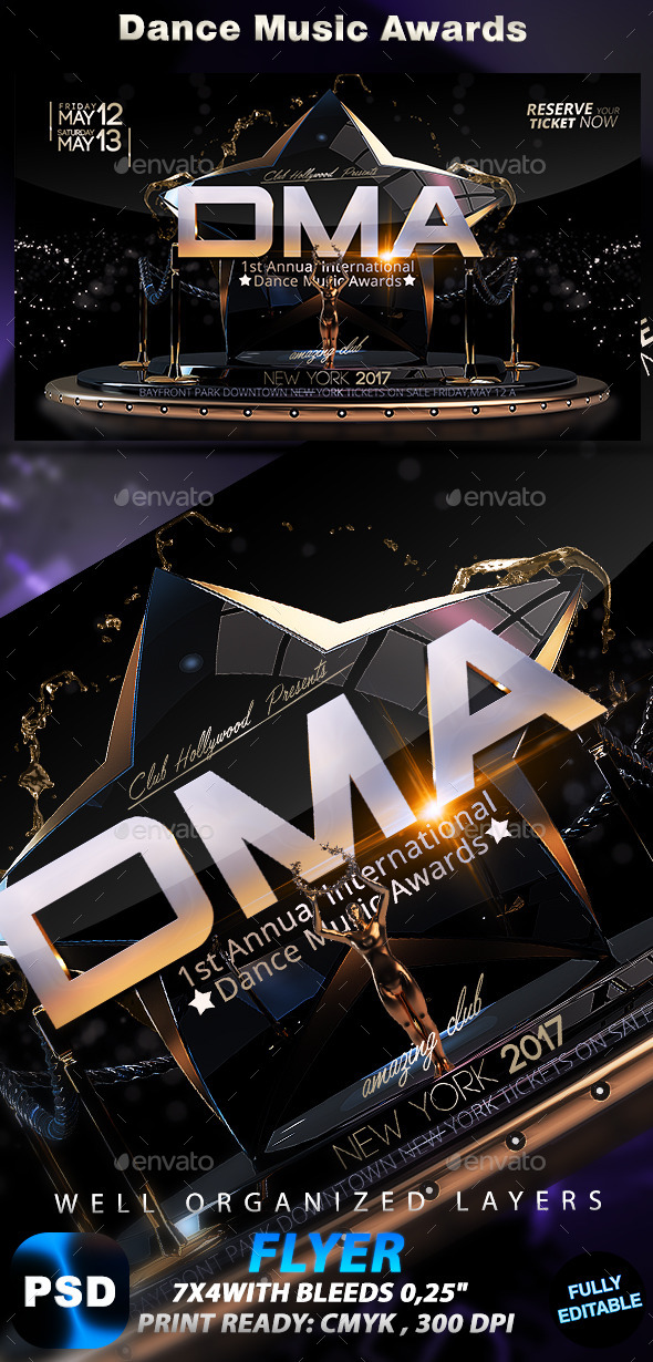 Dance Music Awards - Events Flyers