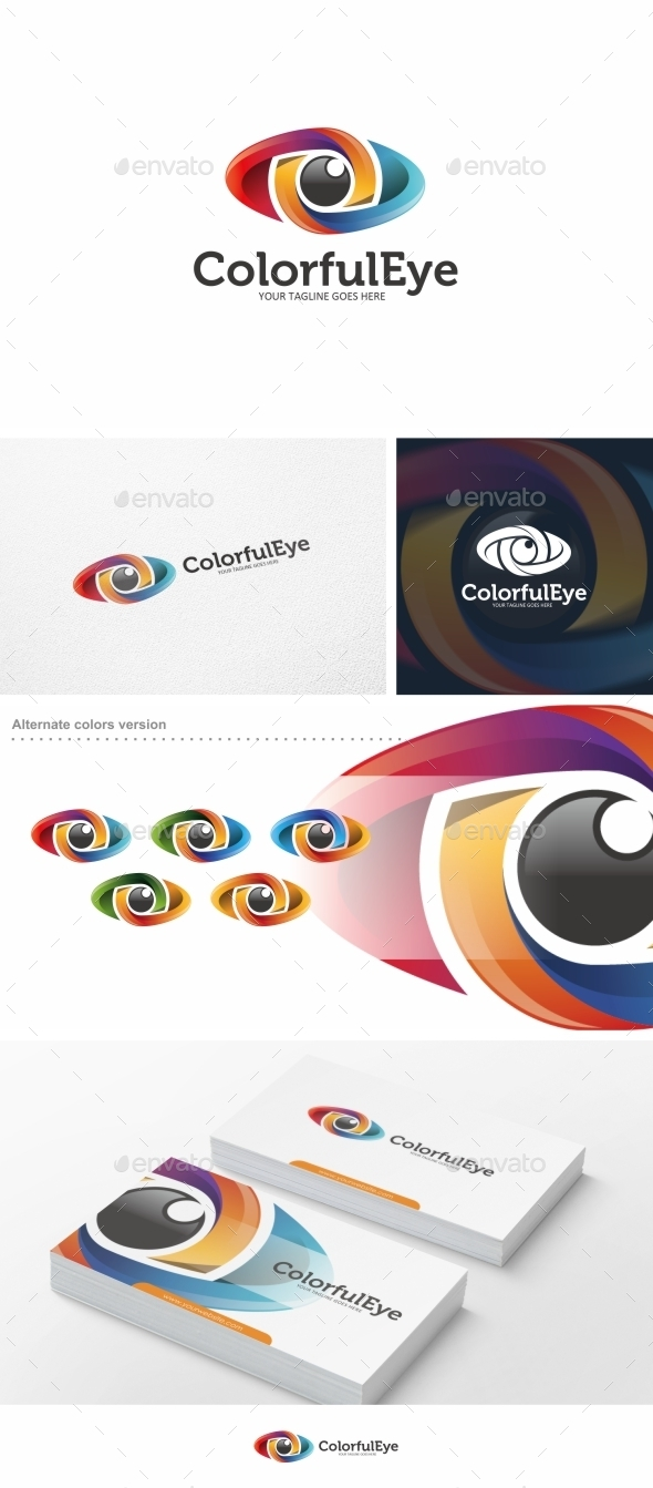 Colorful Eye - Logo Template - Symbols Logo Templates
