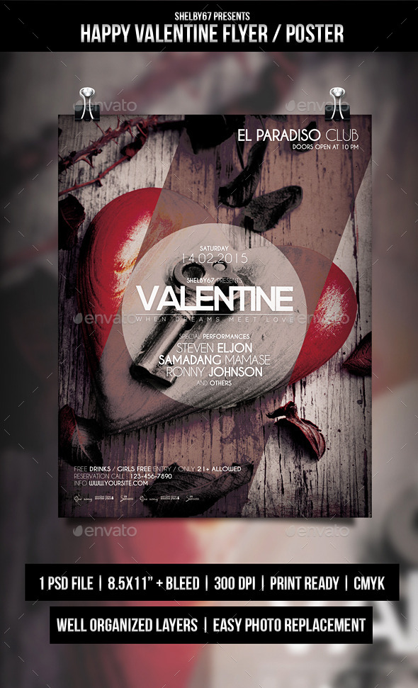 Happy Valentine Flyer / Poster - Events Flyers