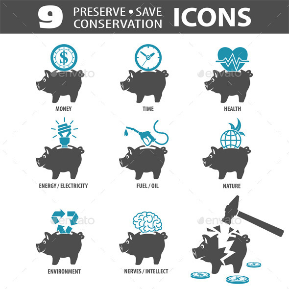 Preserve Save Icons - Concepts Business