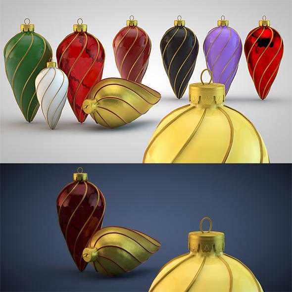 Christmas Decoration Kit HiRes 7 - 3DOcean Item for Sale