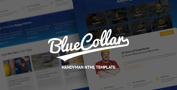 Blue Collar – Handyman HTML Template